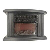 Mini elétrico chama aquecedor de ar aquecedor ptc cerâmica aquecimento fogão do radiador doméstico ventilador acessível plugue da ue|Aquecedores elétricos| |  -
