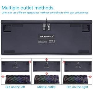 Image 5 - SKYLOONG GK61 SK87 87 مفاتيح لوحة مفاتيح الألعاب الميكانيكية الساخن مبادلة سماعة لاسلكية تعمل بالبلوتوث RGB الخلفية لوحة المفاتيح ABS كيكابس للكمبيوتر/ماك