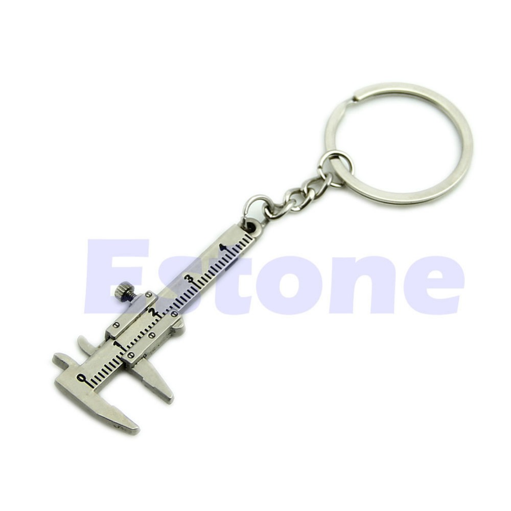 Hot Novelty Simulation Movable Vernier Caliper Model  Chain Keyring