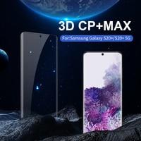 삼성 갤럭시 S20 강화 유리 스크린 프로텍터 NILLKIN 3D CP + MAX 방폭 유리 보호 필름 S20 Plus Ultra