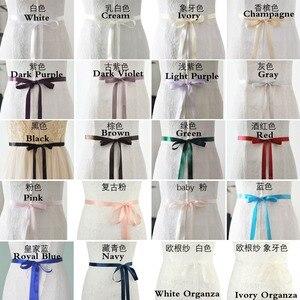 Image 5 - JLZXSY fait à la main fleur Design strass ceinture de mariage demoiselle dhonneur robe de soirée ceinture accessoires de mariage Brida ceinture