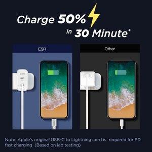 Image 2 - ESR PD Ladegerät 36W Dual Port Protable Reise Ladegerät für iPhone Samsung für iPad Xiaomi Typ c Schnelle lade Adapter USB C Ports