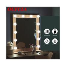 Oufula туалетный светильник голливудская usb косметическая зеркальная