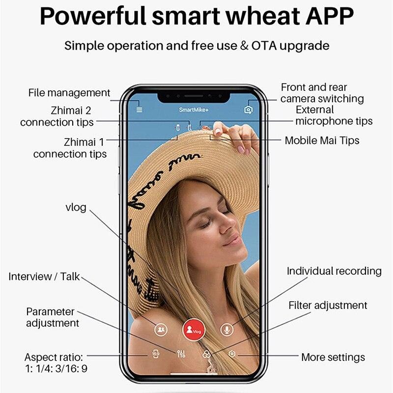 SABINETEK SmartMike + sans fil Bluetooth Vlog micro Radio en temps réel micro pour iPhone Huawei Smartphone caméra d'ordinateur vlogeur - 6