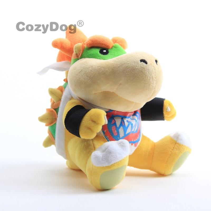 Super Mario Bros Bowser Jr Baby Bowser PlushToy Soft Dolls Stuffed Animals 18cm Kids Gift(China)