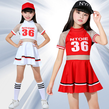White Children Kids Girls Cheerleader Costume School Child Cheer Costume Cheerleaders Carnival Party Halloween Cosplay Dress princess peach super mario bros costume classic game mario costume kids girls carnival cosplay party dress