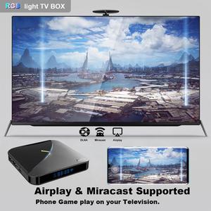 Image 5 - TV Box A95XF3 Air, Android 9,0, con luz RGB, Amlogic S905X3, 8K, HD, 2,4/5G, wi fi, servidor multimedia, Android, A95X, F3, AIR, pk, X96AIR