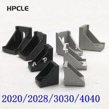 2020 2028 3030 4040 ângulo de montagem de canto de alumínio conector suporte fixador móveis ferragem
