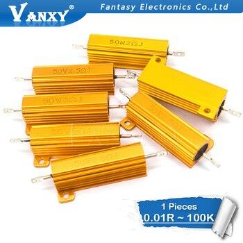 цена на 50W Aluminum Power Metal Shell Case Wirewound Resistor 0.01 ~ 100K 0.05 0.1 0.5 1 1.5 2 6 8 10 20 100 150 200 300 500 1K 10K ohm