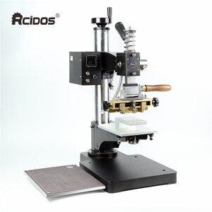 Image 3 - Máquina de estampación TF1135 rcidas, color bronce/Máquina de plegado de cuero, máquina de estampación en caliente, relieve de cuero 220V pedido mínimo 5set