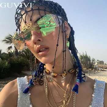 Rimless Square Sunglasses Women 2020 Gradient Rectangle Sunglasses Men Fashion Sunglasses Brand Designer Eyewear Rihanna Style 6