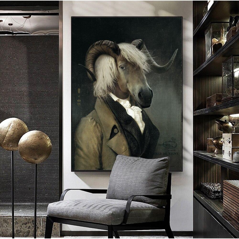 Художественные плакаты и принты в скандинавском ретро стиле из козьего холста, настенные картины, художественное украшение для стен Cuadro