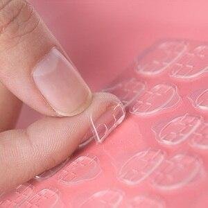 Image 1 - 5/10 feuille faux ongles orteil autocollant Transparent Double face rubans adhésifs colle pour presse sur faux ongles conseils Extension bâton outils
