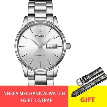 CADISEN 2020 Official Original Luxury Brand Men's Automatic Mechanical Watch 5ATM Sports Waterproof Calendar Masculine - discount item  70% OFF Men's Watches