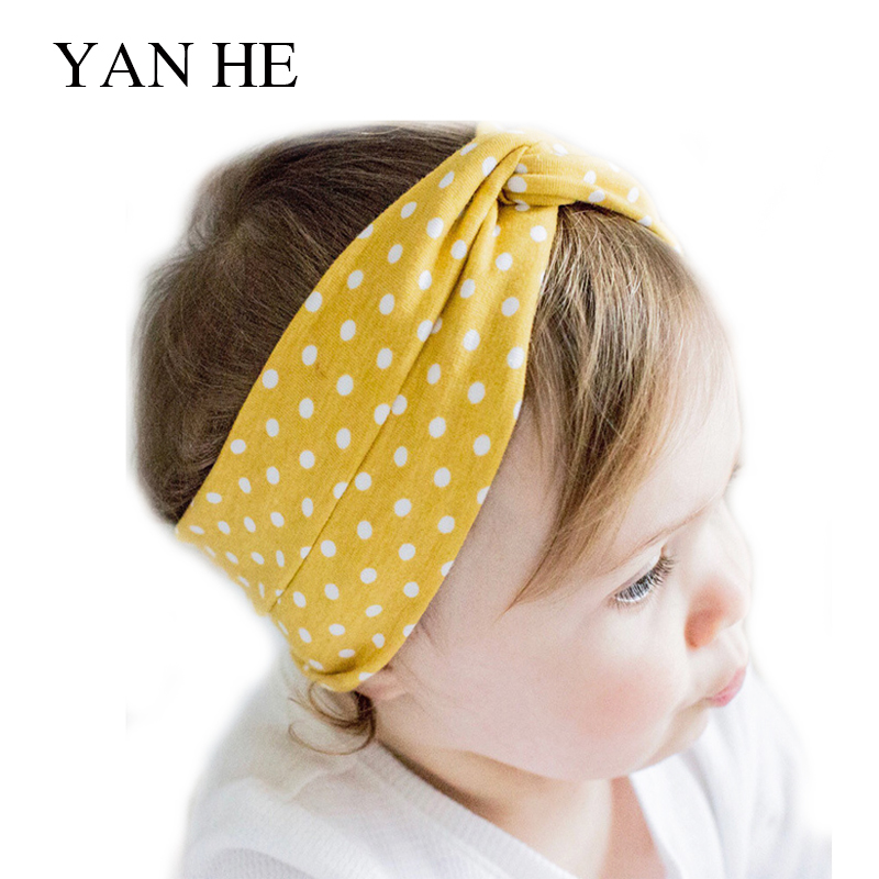 popular-in-europe-and-america-cute-dot-print-cross-hair-band-baby-headdress-cotton-children-hair-band