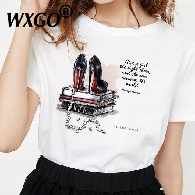 Perfumer Floral Stripe T Shirt Women Shirt Summer Shirt Lady Luxury Brand Streetwear T-shirt Tops Graphic Tees Women Kawaii