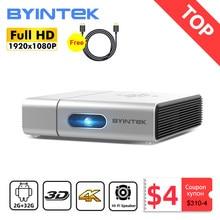 Byintek U50 Full HD 1080p mini 2k 3d 4k android Smart Wifi Projetor portátil laser Home Movie led dlp projetor beamer proyector