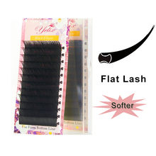 Yelix Matte Flat Ellipse Lashes Extension Individual Ellipse Flat Eyelashes Extensions Lash Extension Mink Eyelash For Makeup