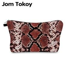 Jom Tokoy Cosmetic Bag Printing Serpentine Personalised Makeup Bags Organizer Women Beauty HZB1001