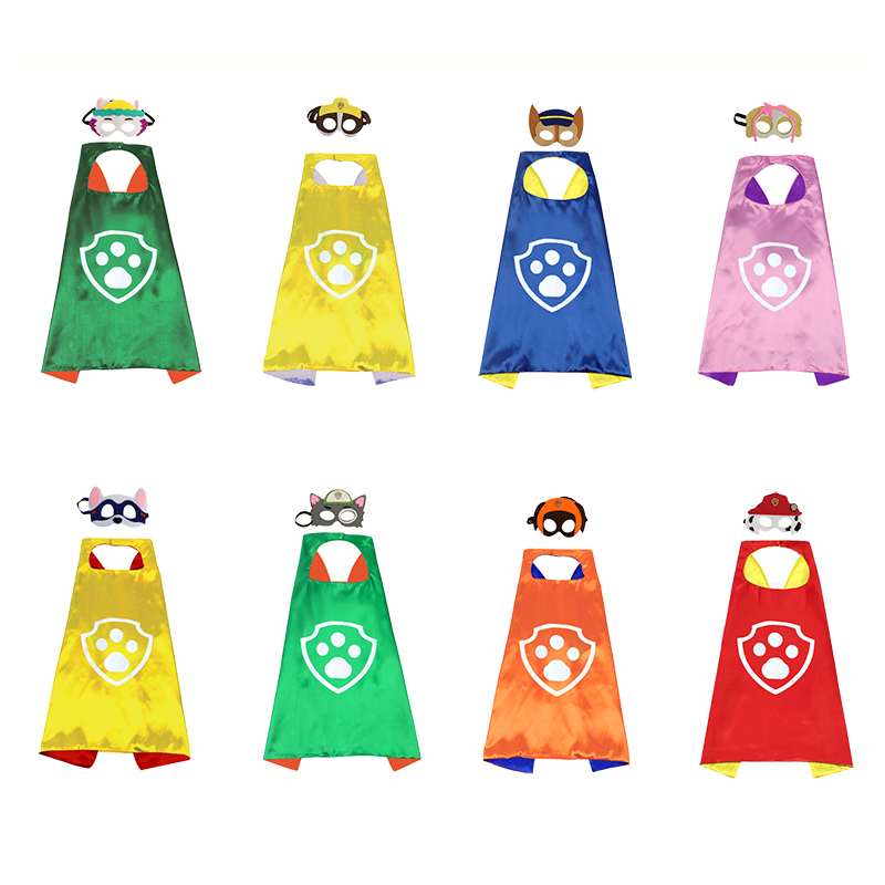 Paw Patrol Birthday Gift Promotion Mask Cloak Everest Cosplay Christmas Halloween Party Decoration Children's Toy