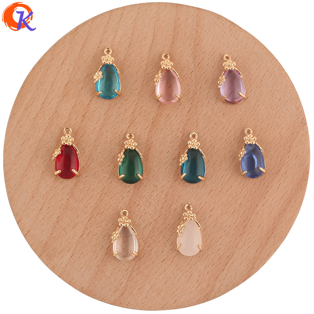 Cordial Design 50Pcs 8*17MM Jewelry Accessories/Crystal Charms Jewelry/Drop Shape/DIY Making/Pendant/Hand Made/Earring Findings