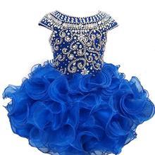 Детские короткие платья-пачки с кристаллами на заказ для маленьких девочек
