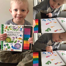 Dedo Graffiti pintura libro de pigmento lavable Color bebé aprendiendo a dibujar arte suministros para colorear libro creativo sello Arte