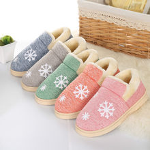 Dropshipping Winter Warm Ful Women Slippers Cotton Sheep Lovers Home Slippers Indoor Plush Size House Shoes Woman Wholesale(China)