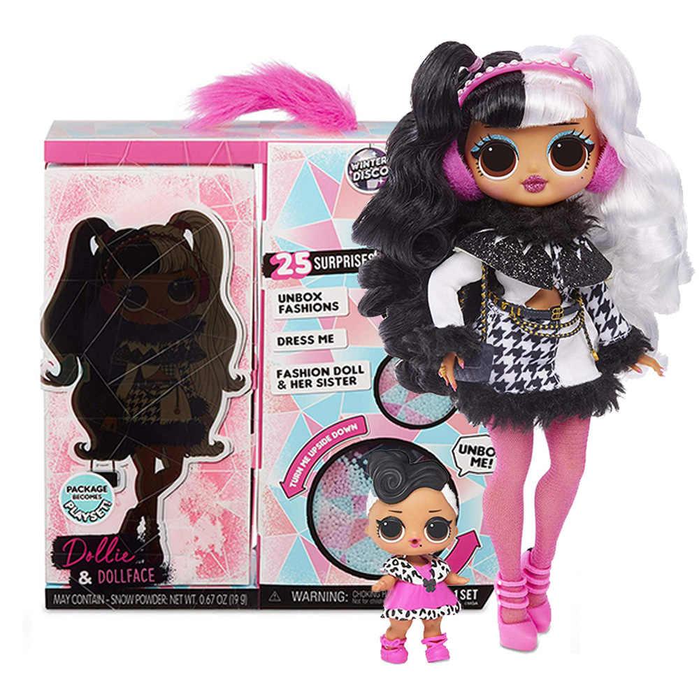 L.o.r Kejutan! O. M. G. Musim Dingin Disco Dollie Boneka Fashion & Sister Lols Boneka untuk Mainan Anak