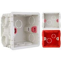 Регулируемая 86 Тип Монтажная коробка 86 мм* 85 мм* 50 мм Настенная коробка переключателей светодиодное освещение розетка коробка применяется для любого положения поверхности стены
