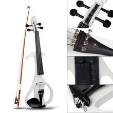 Violin White Stringed-Instrument Electric Professional Silent for Violinist-Beginners