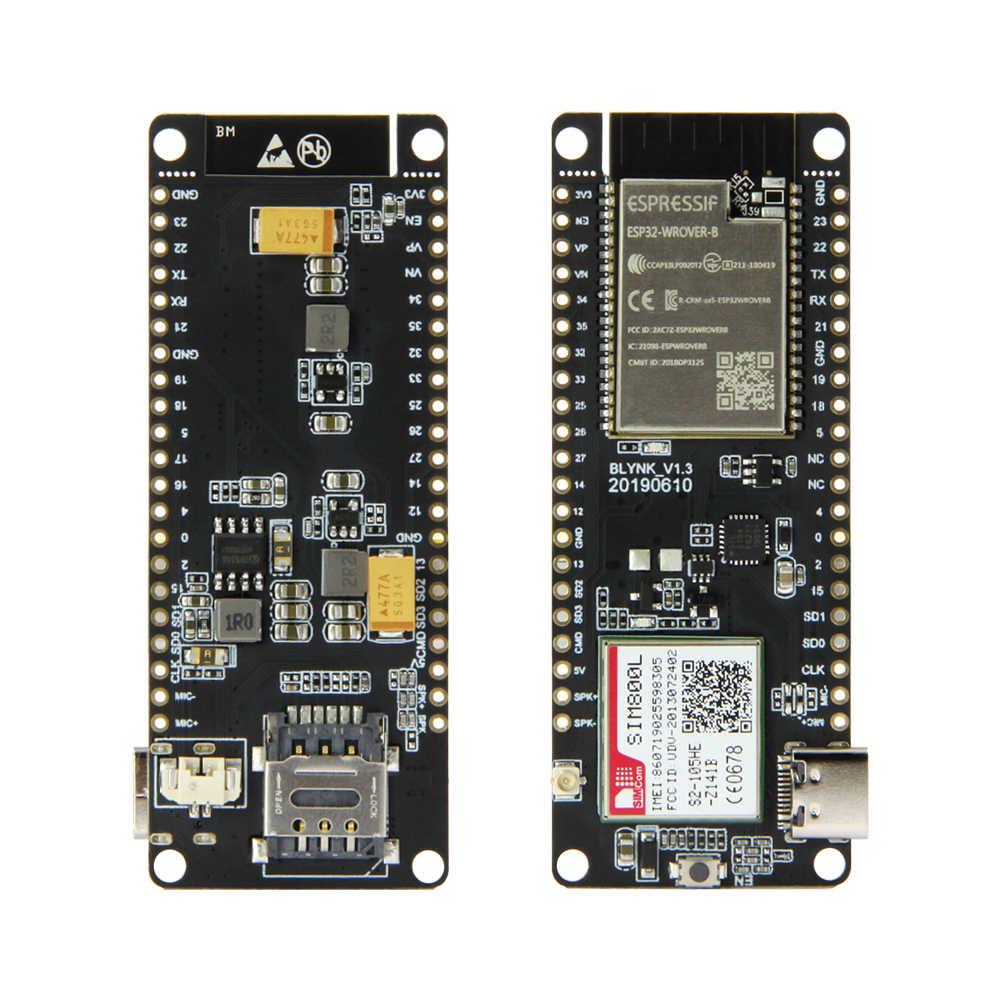 LILYGO®TTGO T-çağrı V1.3 ESP32 kablosuz modülü GPRS anten SIM kart SIM800L modülü ve GSM/GPRS anten