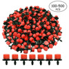 100-500Pcs 1/4Inch Adjustable Micro Drip Irrigation System Watering Sprinklers Anti-Clogging Emitter Dripper Red Garden Supplies