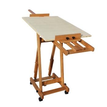Dual Use Easel Solid Wood Oil Paint Floor Easel Drawer Sketch Easel Advertising Display Rack Chinese Painting Shelf