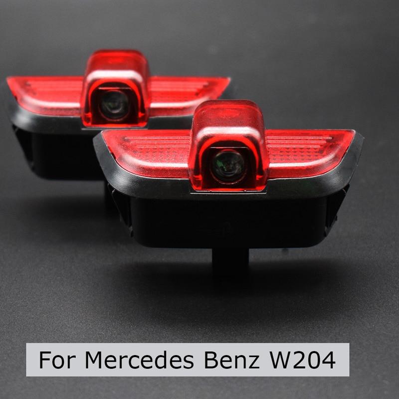 Porta do carro led bem-vinda luz projetor laser logotipo sombra lâmpada para mercedes benz w204 c200 c300 c280 c260 c classe carro-estilo