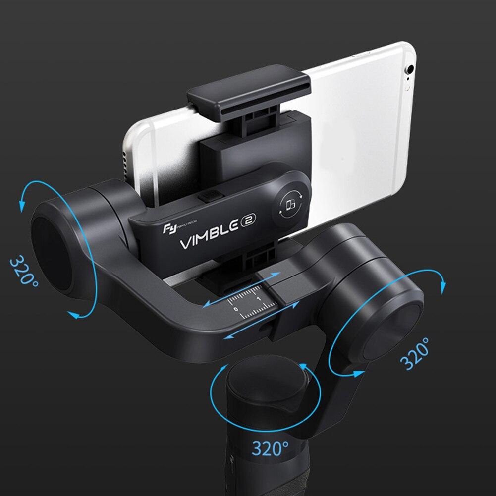 Reise Hand Gimbal 3 Achse Tragbare Panorama Video Aufnahme Für Smartphones Anti Schütteln Selfie Stick Zeitraffer Erweiterbar
