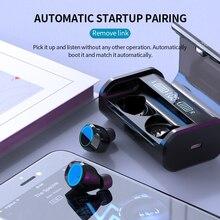 AAC Светодиодный дисплей питания беспроводной Bluetooth 5.0NEW наушники TWS 3D Стерео шумоподавление сенсорные наушники с зарядным устройством 4000 мАч
