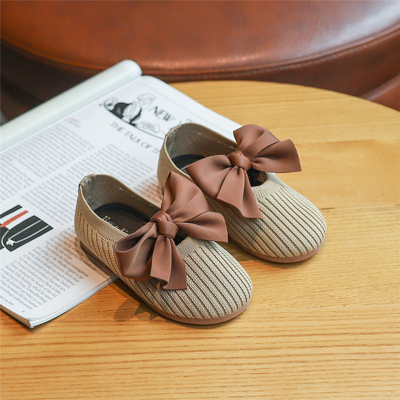 Toddlers Shoes For Baby Girls  Baby Girl Dancing Shoes New Shoes Princess With Bowknot Soft Bottom Breathable Moccasins SZ081