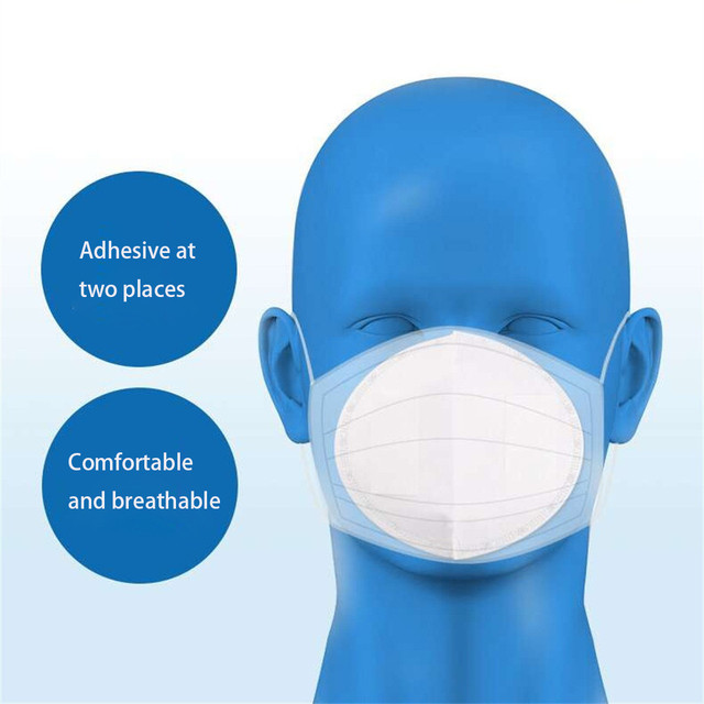 50/100 PCS Mask Gasket Face Mask Filter Pad Activated Carbon Breathing Filters 5