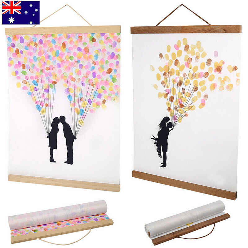 Creative 21-80cm Magnetic Wooden Photo Frame Scroll Print / Poster / Picture Hanger DIY hot