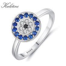 Женские и мужские кольца из серебра 925 пробы с голубым Цирконом