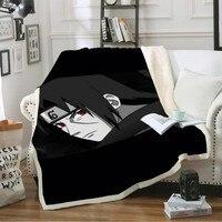Custom Naruto Throw Blanket on Sofa Bed Anime Sherpa Fleece Blanket Kids Winter Warm Blanket Outdoor Soft Blanket for Travel