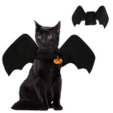 Dog Clothes Halloween Pet Costume Bat Costume with Bell for Cat Dog Foldable