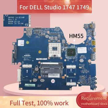 Laptop motherboard For DELL Studio 1747 1749 Notebook Mainboard LA-5154P HM55 DDR3
