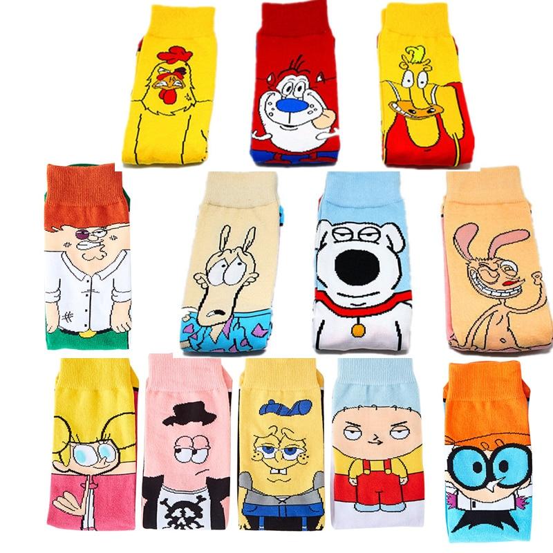 2020 New Personality Funny Anime Socks Fashion Cartoon Happy Men Women Sock Novelty High Quality Stitching Pattern Cotton Socks