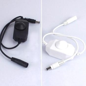 LED Dimmer Switch Brightness Adjust Controller DC plug for 3528 5050 5730 5630 Single Color Strip Light DC 12V 24V Black/White цена 2017