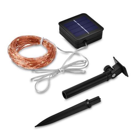 2 pcs 21m led ao ar livre lampadas solares 200 leds luzes da corda de