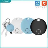 TUYA-localizador inteligente para niños, 1 Uds., alarma antipérdida, rastreador inalámbrico, BILLETERA, llavero, resistente al agua, con 2 baterías, apto para Bluetooth