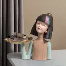 Nordic Home Decoration Girl Resin Sculpture Living Room Decoration Office Decor Figure Statue Bedroom Decor Accessories Gifts