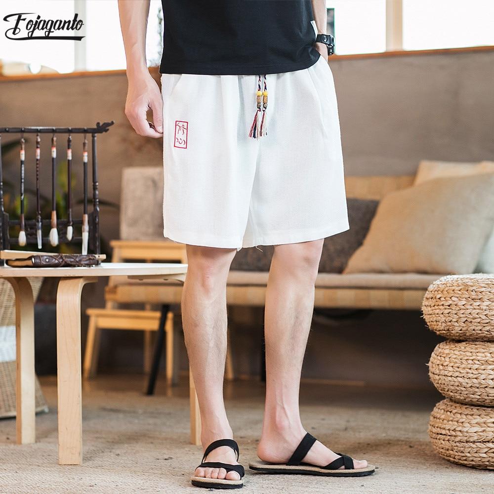FOJAGANTO Fashion Men Casual Brand Shorts New Summer Cotton Shorts Male Bermuda Fashion Mens Shorts Masculina